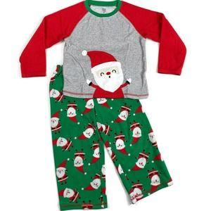 Carters Santa Christmas Fleece Holiday Pajama Set